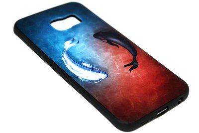 ADEL Siliconen Back Cover Softcase Hoesje Samsung Galaxy S6 Edge - Karper Vissen