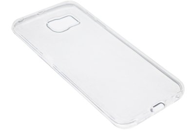ADEL Siliconen Back Cover Softcase Hoesje Samsung Galaxy S6 Edge - Doorzichtig transparant