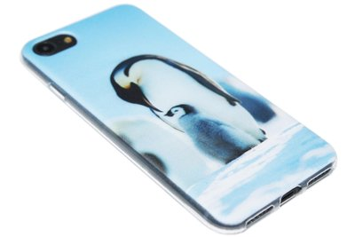 ADEL Siliconen Back Cover Softcase Hoesje iPhone 8/7 - Pinguin