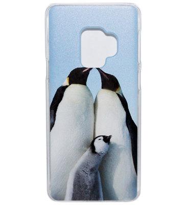ADEL Kunststof Back Cover Hardcase Hoesje voor Samsung Galaxy S9 Plus - Pinguin