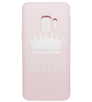 ADEL Siliconen Back Cover Softcase Hoesje voor Samsung Galaxy S9 Plus - King Roze