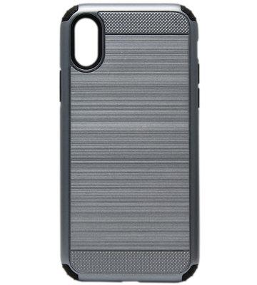ADEL Aluminium Back Cover Hoesje voor iPhone XS/X - Blauw