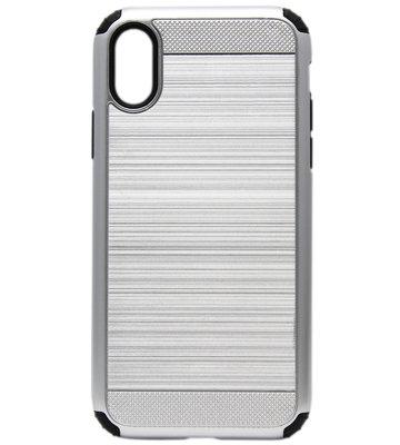 ADEL Aluminium Back Cover Hoesje voor iPhone XS/X - Zilver