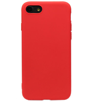 ADEL Siliconen Back Cover Hoesje voor iPhone 8/7 - Rood