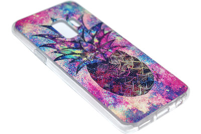 Ananas kleur hoesje siliconen Samsung Galaxy S9 Plus