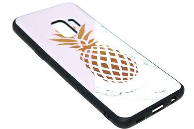 Goud ananas hoesje siliconen Samsung Galaxy S9 Plus