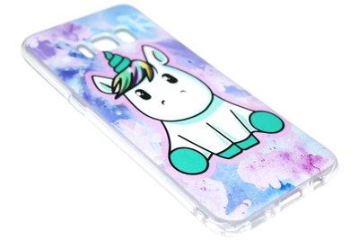 Eenhoorn kleur siliconen hoesje Samsung Galaxy S8 Plus
