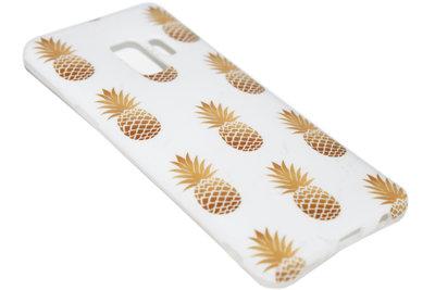 Goud ananassen hoesje Samsung Galaxy S9 Plus
