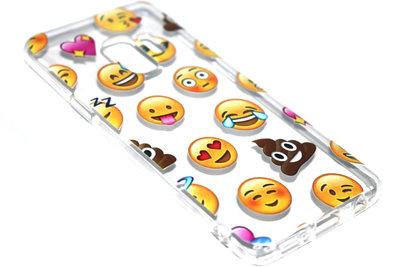 Emoticons smileys hoesje siliconen Samsung Galaxy S9 Plus