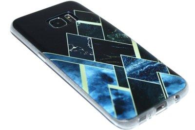 Geometrisch vormen hoesje zwart Samsung Galaxy S7 Edge