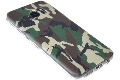 Camouflage hoesje siliconen Samsung Galaxy S7 Edge