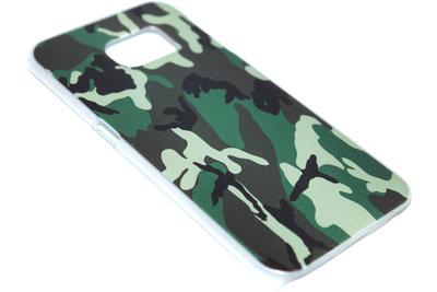 Camouflage hoesje kunststof Samsung Galaxy S6 Edge