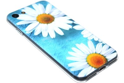 ADEL Siliconen Back Cover Softcase Hoesje iPhone 8/7 - Margrietjes Bloemen