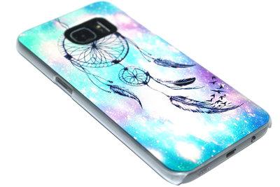 Dromenvanger hoesje blauw kunststof Samsung Galaxy S7 Edge