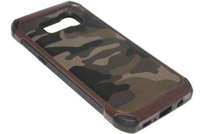 Camouflage hoesje bruin Samsung Galaxy S8 Plus