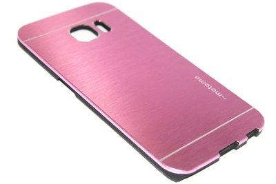 Aluminium hoesje roze Samsung Galaxy S6 Edge