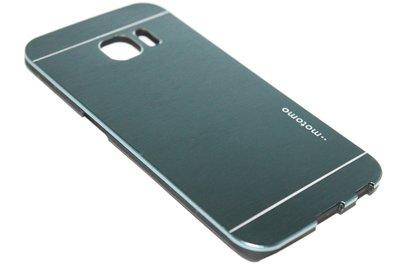 Aluminium hoesje donkerblauw Samsung Galaxy S6 Edge