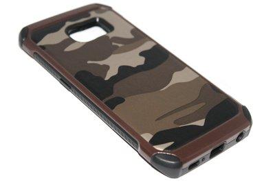 Camouflage hoesje bruin Samsung Galaxy S6 Edge