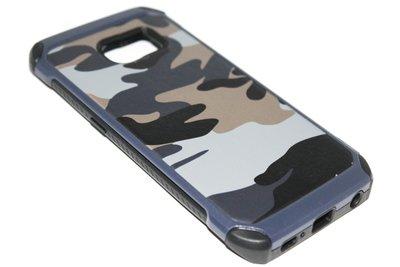 Camouflage hoesje blauw Samsung Galaxy S6 Edge