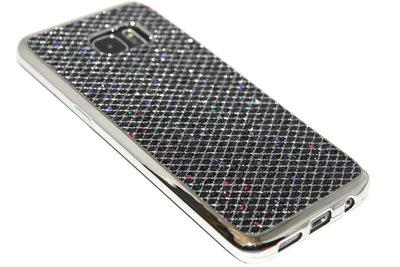 Bling bling hoesje zwart Samsung Galaxy S7 Edge