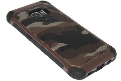 Camouflage hoesje bruin Samsung Galaxy S7 Edge