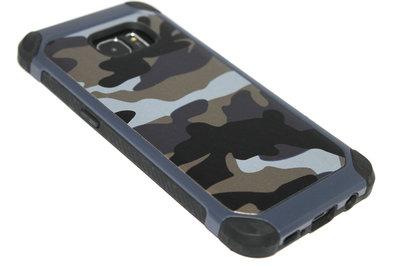 Camouflage hoesje blauw Samsung Galaxy S7 Edge