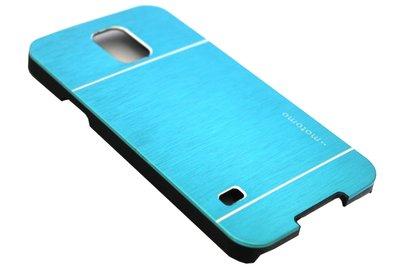 Aluminium hoesje lichtblauw Samsung Galaxy S5 (Plus) / Neo