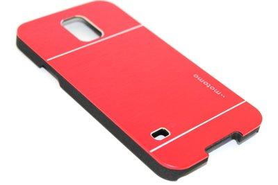 Aluminium hoesje rood Samsung Galaxy S5 (Plus) / Neo