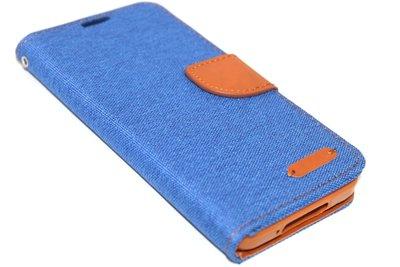 Kunstleren hoesje blauw Samsung Galaxy S5 (Plus) / Neo