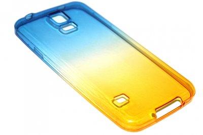 Siliconen hoesje blauw/geel Samsung Galaxy S5 (Plus) / Neo