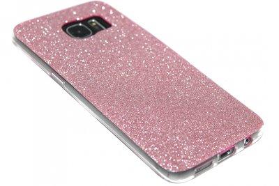Bling hoesje roze Samsung Galaxy S7 Edge