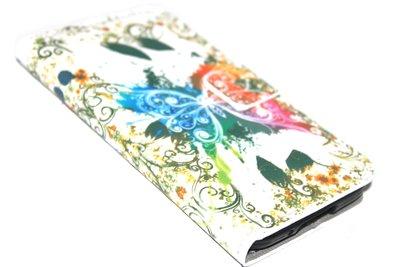 Vlinder bloemen hoesje kleurrijk Samsung Galaxy S5 (Plus) / Neo