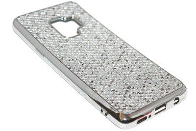 Bling bling hoesje zilver Samsung Galaxy S9
