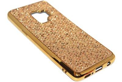 Bling bling hoesje goud Samsung Galaxy S9 Plus