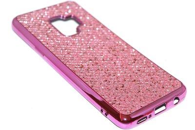 Bling bling hoesje roze Samsung Galaxy S9 Plus