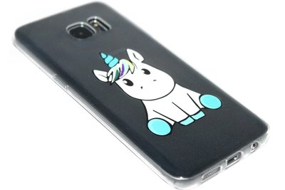 Eenhoorn siliconen hoesje Samsung Galaxy S7 Edge