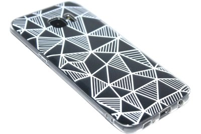 Driehoeken hoesje siliconen Samsung Galaxy S7 Edge
