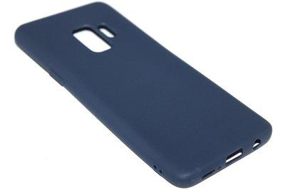 Donkerblauw siliconen TPU hoesje Samsung Galaxy S9 Plus