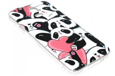 Panda hartjes hoesje siliconen Samsung Galaxy S5 (Plus) / Neo