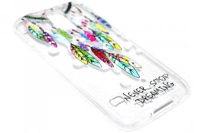 Dromenvanger kleur hoesje siliconen Samsung Galaxy S5 (Plus) / Neo