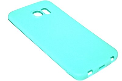 Groen siliconen TPU hoesje Samsung Galaxy S6 Edge