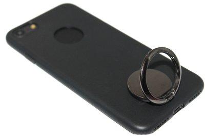 Zwarte telefoonhouder met ring universeel