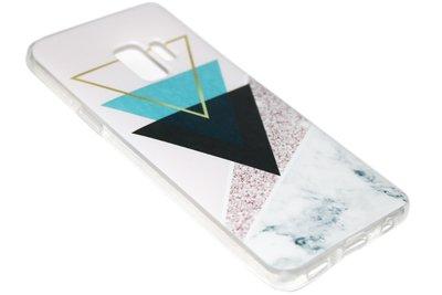 Geometrische vormen hoesje siliconen Samsung Galaxy S9 Plus