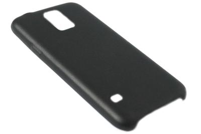 Kunstleren back cover zwart Samsung Galaxy S5 (Plus) / Neo