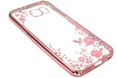 Glimmend bloemen hoesje Samsung Galaxy S6 Edge