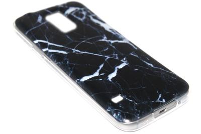 Marmer hoesje zwart Samsung Galaxy S5 (Plus) / Neo