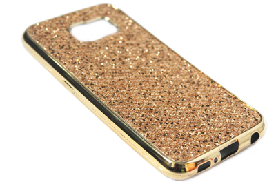 Bling bling hoesje goud Samsung Galaxy S6 Edge