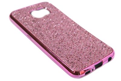 Bling bling hoesje roze Samsung Galaxy S6 Edge