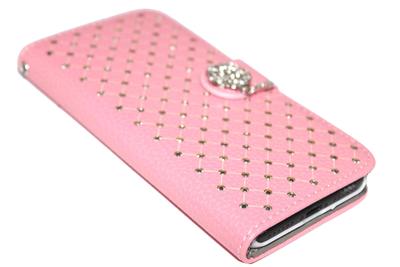 Bling Bling diamanten hoesje kunstleer Samsung Galaxy S7 Edge