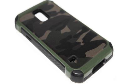 Camouflage hoesje Samsung Galaxy S5 (Plus)/ S5 Neo - Groen